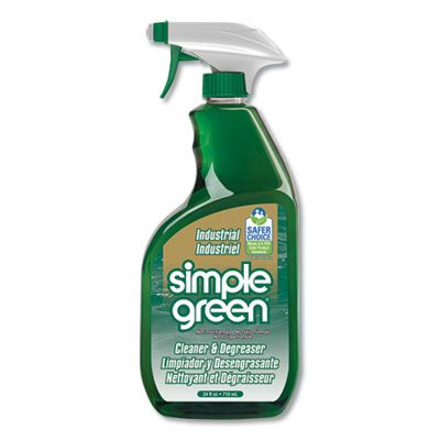 Simple Green 13012 Industrial Cleaner & Degreaser, 24 oz Spray Bottle - 12 / Case