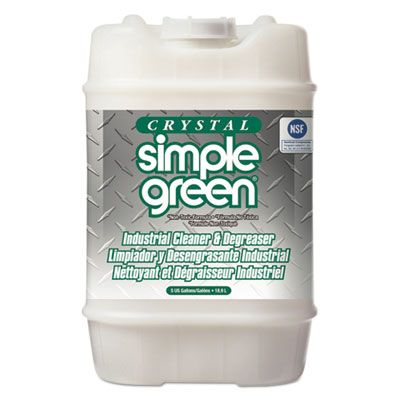 Simple Green 19005 Crystal Industrial Cleaner & Degreaser, 5 Gallon Pail - 1 / Case