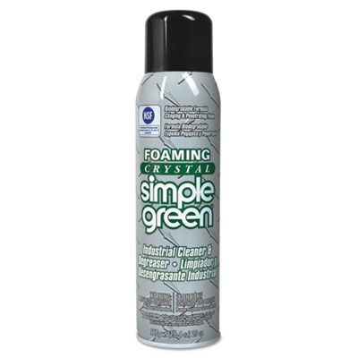 Sunshine Makers 19010 Simple Green Foaming Crystal Industrial Cleaner & Degreaser, 20 oz Aerosol Spray Can - 12 / Case