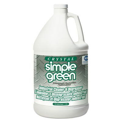 Simple Green 19128 Crystal Industrial Cleaner & Degreaser, 1 Gallon Bottle - 6 / Case