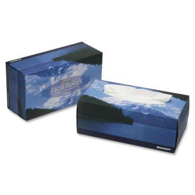 SKILCRAFT 2818360 Facial Tissue, 2 Ply, 200 Tissues / Box, White - 6 / Case