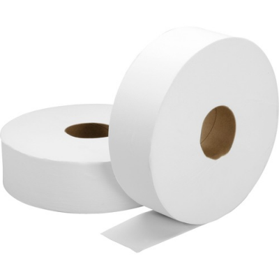 SKILCRAFT 5909068 Jumbo Roll Toilet Paper, 2 Ply, 2000', White - 6 / Case