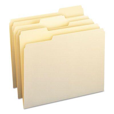 Smead 10330 File Folders, 1/3 Cut Top Tab, 11 pt, Letter, Manila - 500 / Case