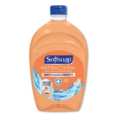 Softsoap 5261 Antibacterial Liquid Hand Soap, Crisp Clean Scent, 50 oz Refill Bottle - 6 / Case