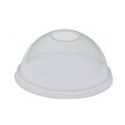 Solo LDAX2N-00090 Dome Lid with Straw Hole, for Trophy 12, 20, 22, & 24 oz Cold Cups, Clear - 500 / Case