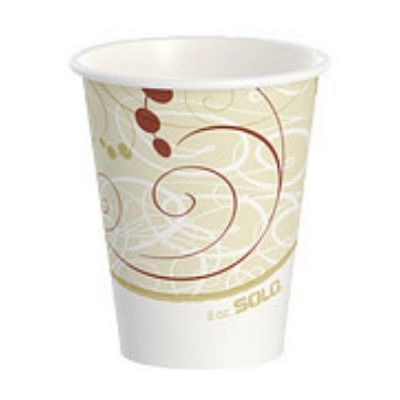 Solo 378SM-J8000 Symphony 8 oz Paper Hot Cups, Poly-Lined - 1000 / Case