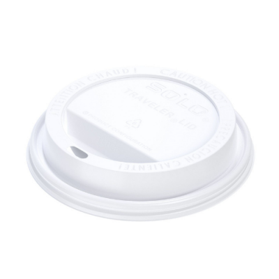 Solo TLP20-0007 Traveler Lid for select* Solo 20 oz, 24 oz Paper Hot Cups, White - 1000 / Case