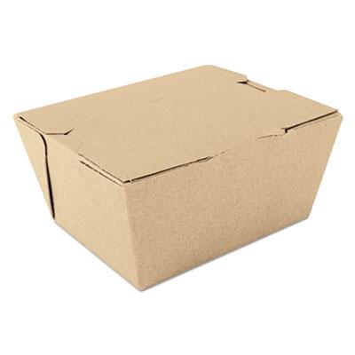 """Southern Champion 731 ChampPak Paper Carryout Boxes, #1, 4.38"""" x 3.5"""" x 2.5"""", Kraft - 450 / Case"""