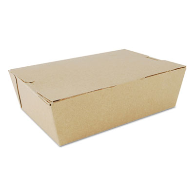 "Southern Champion 733 ChampPak Carryout Boxes, #3, 7.75"" x 5.5"" x 2.5"", Kraft - 200 / Case"