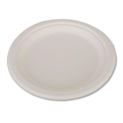 "Southern Champion Tray 18140 ChampWare 9"" Bagasse Plates, White - 500 / Case"