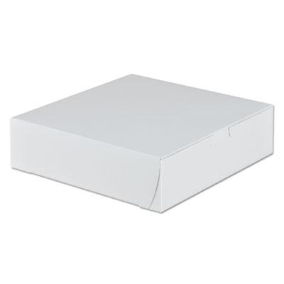"Southern Champion 953 Bakery Boxes, Tuck Top, 9"" x 9"" x 2.5"", White - 250 / Case"