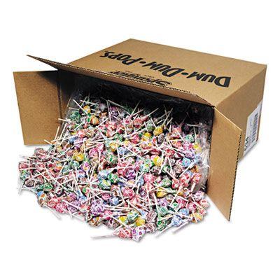 Spangler 534 Dum-Dum-Pops Lollipops, Assorted Flavors, Individually Wrapped, 30 Lb Box - 1 / Case