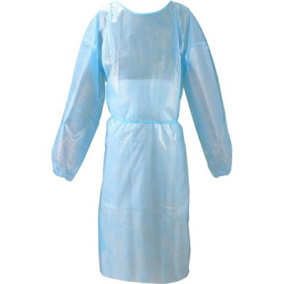 Special Buy 8696 Isolation Gowns, Large, Tie-Back, Long Sleeve, Blue - 10 / Case