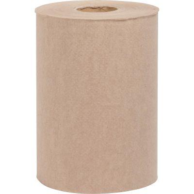 "Special Buy HWRTBR Embossed Hardwound Roll Paper Towels, 7.75"" x 350', Kraft Brown - 12 / Case"