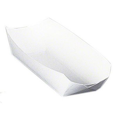 "SQP 9014 Hot Dog Trays, 7"" x 3.25"" x 1.5"", White - 1000 / Case"