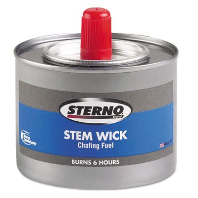 Sterno 10102 Chafing Fuel Can with Stem Wick, Methanol, 1.89G, Six-Hour Burn - 24 / Case