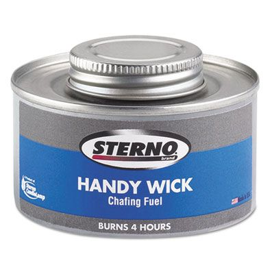 Sterno 10106 Handy Wick Chafing Fuel Can, Methanol, 4 Hour Burn - 24 / Case