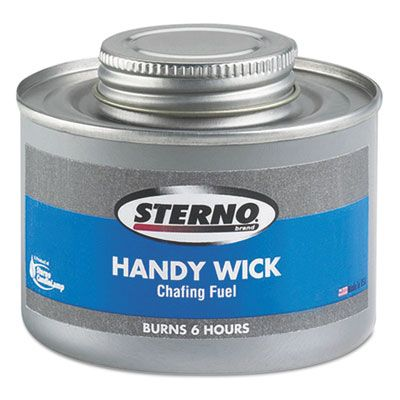 Sterno 10368 Handy Wick Chafing Fuel Can, Methanol, 6 Hour Burn - 24 / Case
