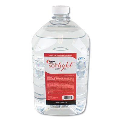 Sterno 30644 Soft Light Liquid Wax Lamp Oil, Gallon, Clear - 4 / Case