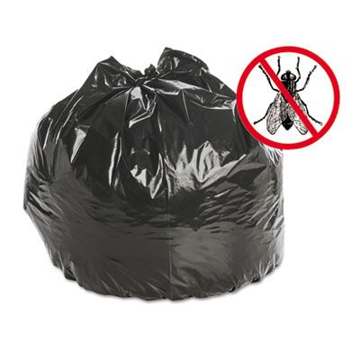 "Stout P3340K20 30 Gallon Insect Repellent Trash Can Liners / Garbage Bags, 2 Mil, 33"" x 40"", Black - 90 / Case"