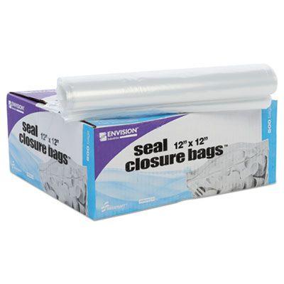 "Stout ZF008C Zip-Seal Closure Plastic Bags, 12"" x 12"", Clear - 500 / Case"
