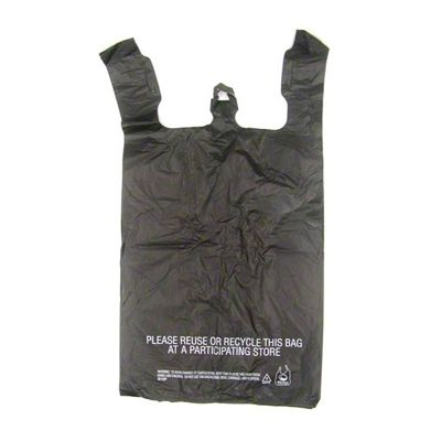"T-Sacks 11-10390 Black Plastic Bags, 11.5"" x 6.5"" x 22"" - 1000 / Case"