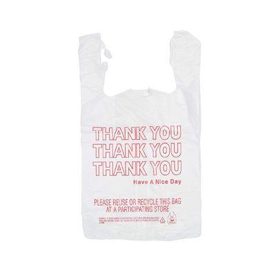 "T-Sacks 11-10093 Plastic 1/6 Size Thank You Bags, 11-1/2"" x 6-1/2"" x 21"", White - 1000 / Case"