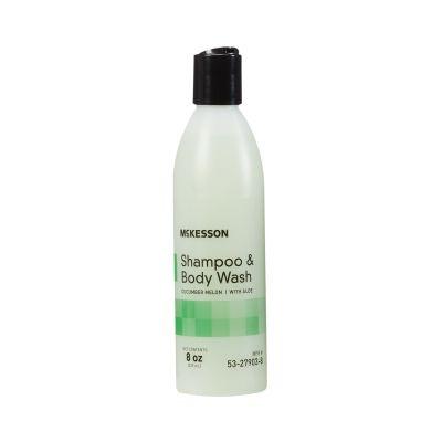 McKesson 53-27903-8 Shampoo & Body Wash, Cucumber Melon Scent, 8 oz Sqeeze Bottle - 48 / Case