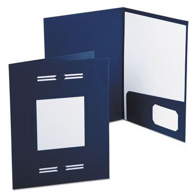 TOPS 10072 Oxford Imperial Series Laserview Business Portfolio Folder, Premium Paper, Blue - 10 / Case