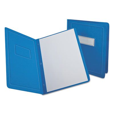 TOPS 52501 Oxford Report Cover, 3 Fasteners, Panel and Border Cover, Letter Size, Light Blue - 25 / Case