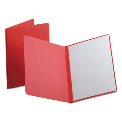 TOPS 52511 Oxford Report Cover, 3 Fasteners, Panel and Border Cover, Letter Size, Red - 25 / Case