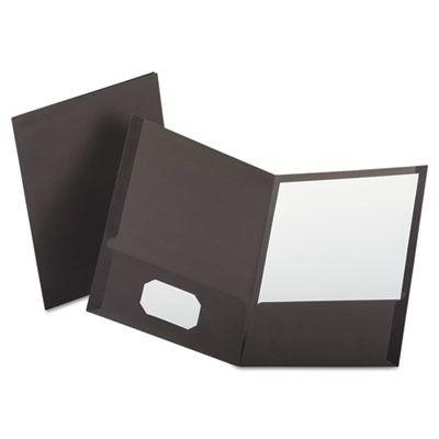TOPS 53405 Oxford Linen Finish Twin Pocket Folders, Letter Size, Gray - 25 / Case