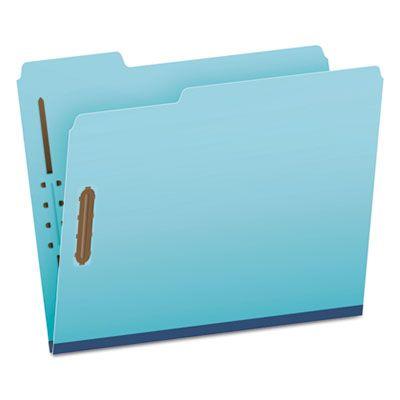 TOPS 61542 Pendaflex Earthwise Heavy-Duty Pressboard Folders, 1/3 Cut, Letter Size, Blue - 25 / Case