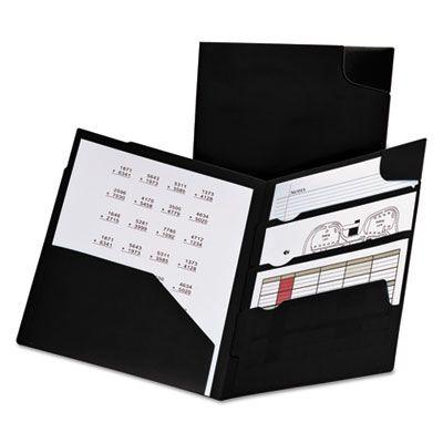TOPS 99801 Oxford Divide It Up Four-Pocket Poly Folder, Letter Size, Navy Blue - 25 / Case