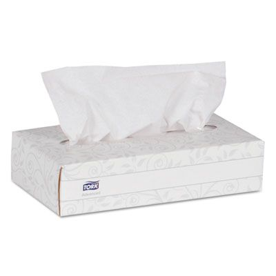 "Essity TF6810 Tork Advanced 2 Ply Facial Tissue, 100 Shets / Flat Box, 7.9"" x 8.2"", White - 30 / Case"