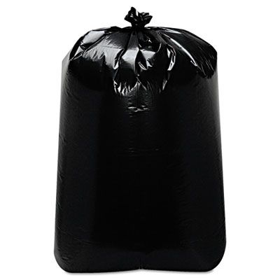 "Trinity ML3858X 60 Gallon Garbage Bags / Trash Can Liners, 22"" x 16"" x 58"", Black - 100 / Case"