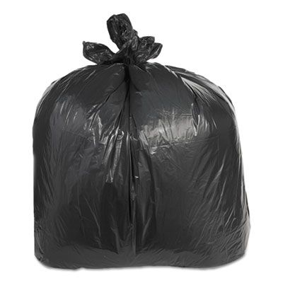 "Trinity ML3858XH 60 Gallon Garbage Bags / Trash Can Liners, 2.4 Mil, 38"" x 58"", Black - 100 / Case"