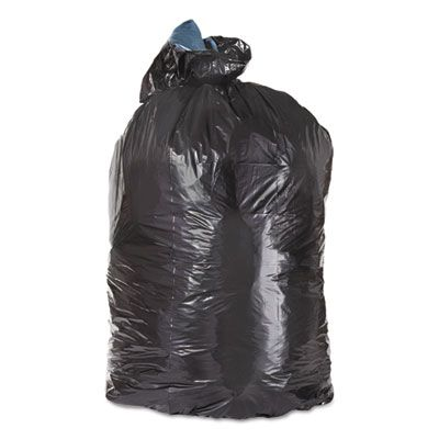 "Trinity ML4046XH 45 Gallon Garbage Bags / Trash Can Liners, 3 Mil, 23"" x 17"" x 46"", Black - 100 / Case"