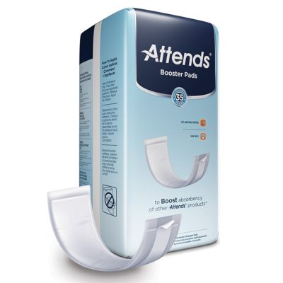 """Attends BST0192 Incontinence Booster Pads for Absorbent Underwear, 3.5"""" x 11"""", Adult Unisex, Light Absorbency - 192 / Case"""