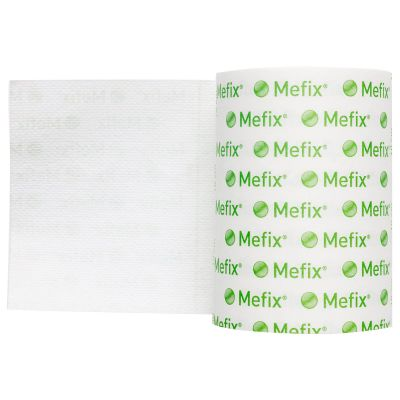 """Molnlycke 310599 Mefix Dressing Retention Tape w/ Liner, Perforated, Nonwoven Spunlace Polyester, 2"""" x 11 Yds, White, NonSterile - 40 / Case"""