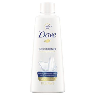 Unilever 17265 Dove Body Wash, Deep Moisture, Light Scent, 3 oz Bottle - 24 / Case
