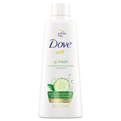 Unilever 17266 Dove Body Wash, Cucumber & Green Tea, 3 oz Bottle - 24 / Case