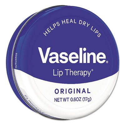 Unilever 53647 Vaseline Lip Therapy, Original, 0.6 oz - 12 / Case