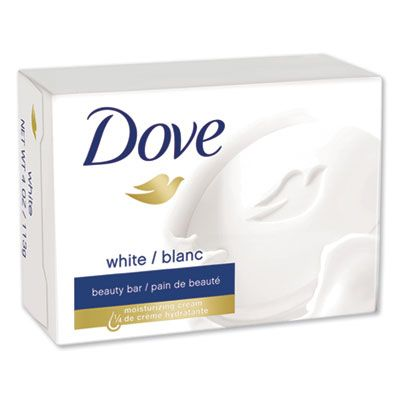 Unilever 61073 Dove Beauty Bar, Light Scent, 2.6 oz Bar, White - 36 / Case