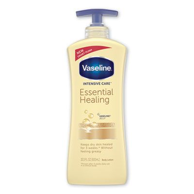 Unilever 7900 Vaseline Intensive Care Essential Healing Body Lotion, 20.3 oz Pump Bottle - 4 / Case