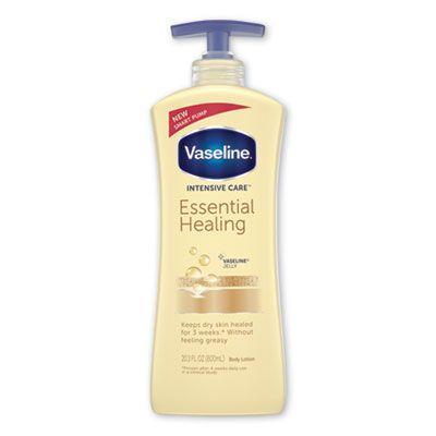Unilever 7900 Vaseline Intensive Care Essential Healing Body Lotion, 20.3 oz Pump Bottle - 4 / Case