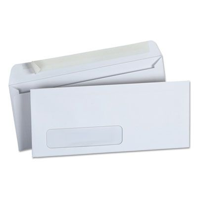 """Universal 36005 Peel Seal Strip Business Envelope with Window, #10, Square Flap, 4.13""""  9.5"""", White - 500 / Case"""