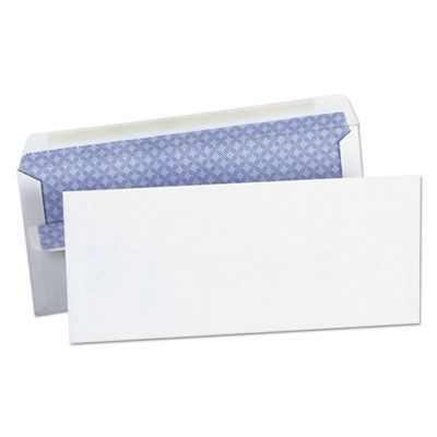 """Universal 36101 Self-Seal Business Envelope, #10, Security Tint, Square Flap, 4.13"""" x 9.5"""", White - 500 / Case"""