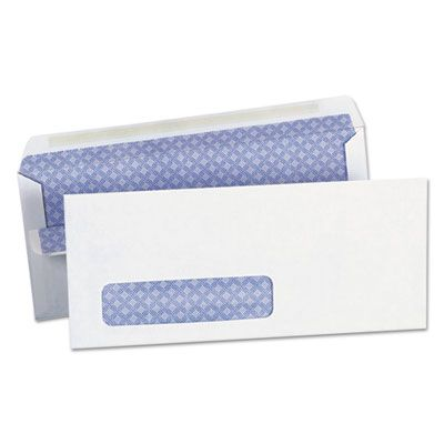 """Universal 63102 Self-Seal Business Envelope with Window, #10, Square Flap, 4.13"""" x 9.5"""", White - 500 / Case"""