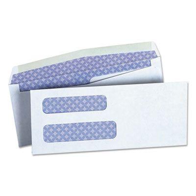 "Universal 36300 Double Window Business Envelope, #8-5/8, Square Flap, Gummed Closure, 3.63"" x 8.63"", White - 500 / Case"